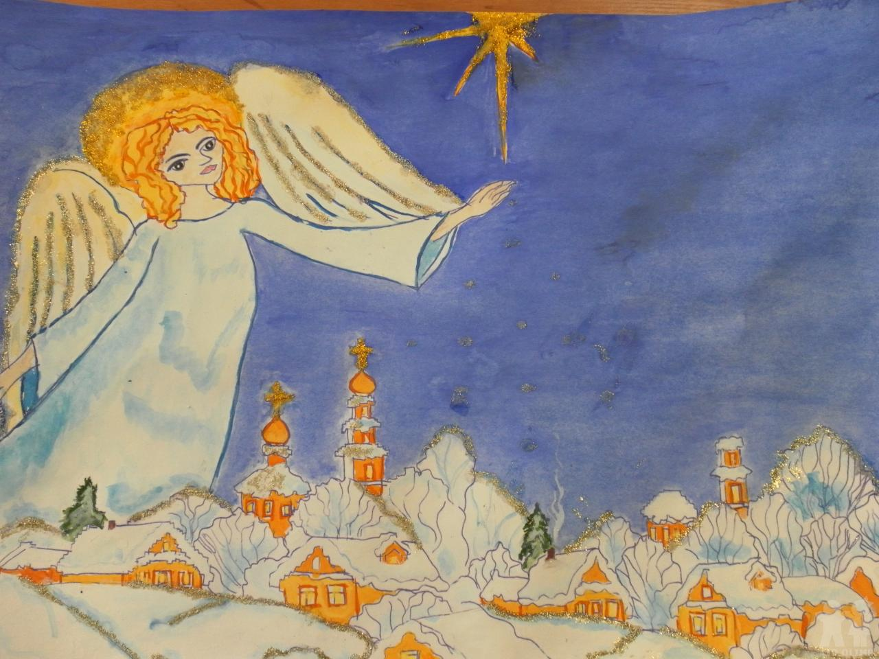 рисунок мир духовный и мир земной михоук